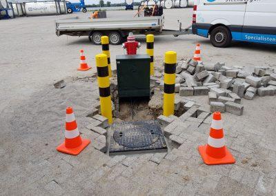 Bluswaterbronnen met pompen Technoport Moerdijk